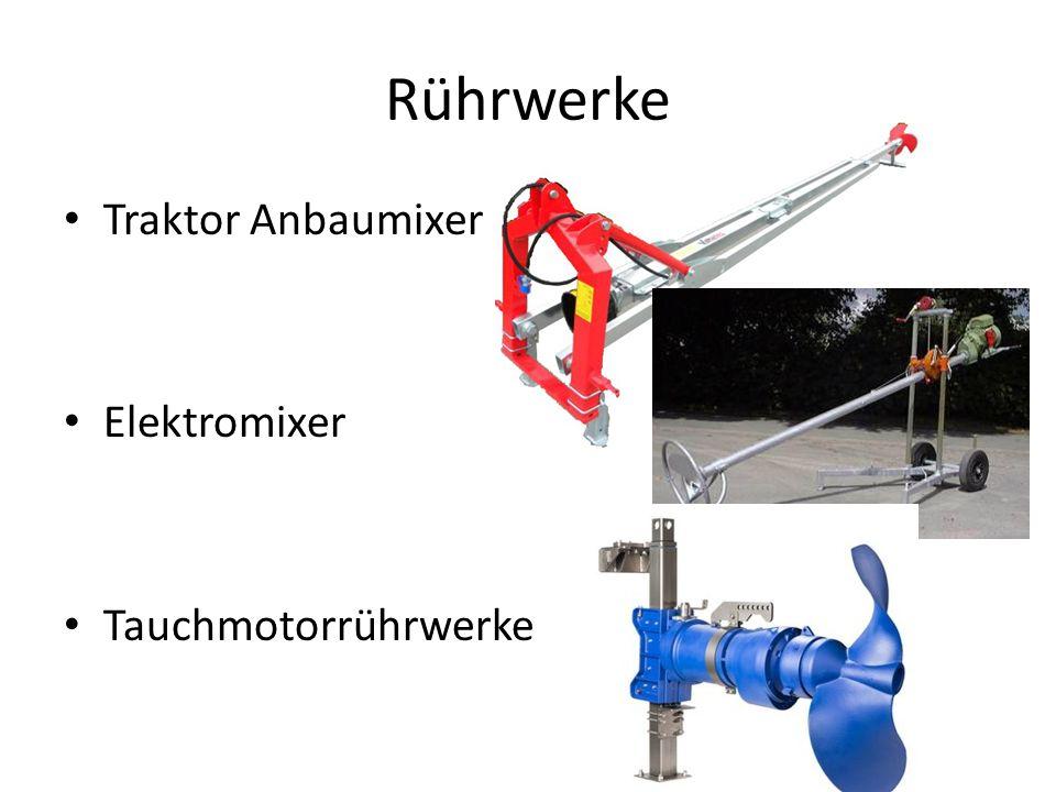 Rührwerke Traktor Anbaumixer Elektromixer Tauchmotorrührwerke