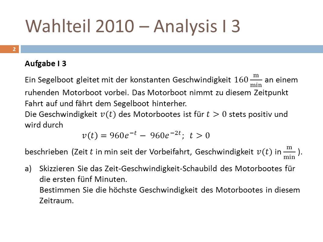 Wahlteil 2010 – Analysis I 3 2