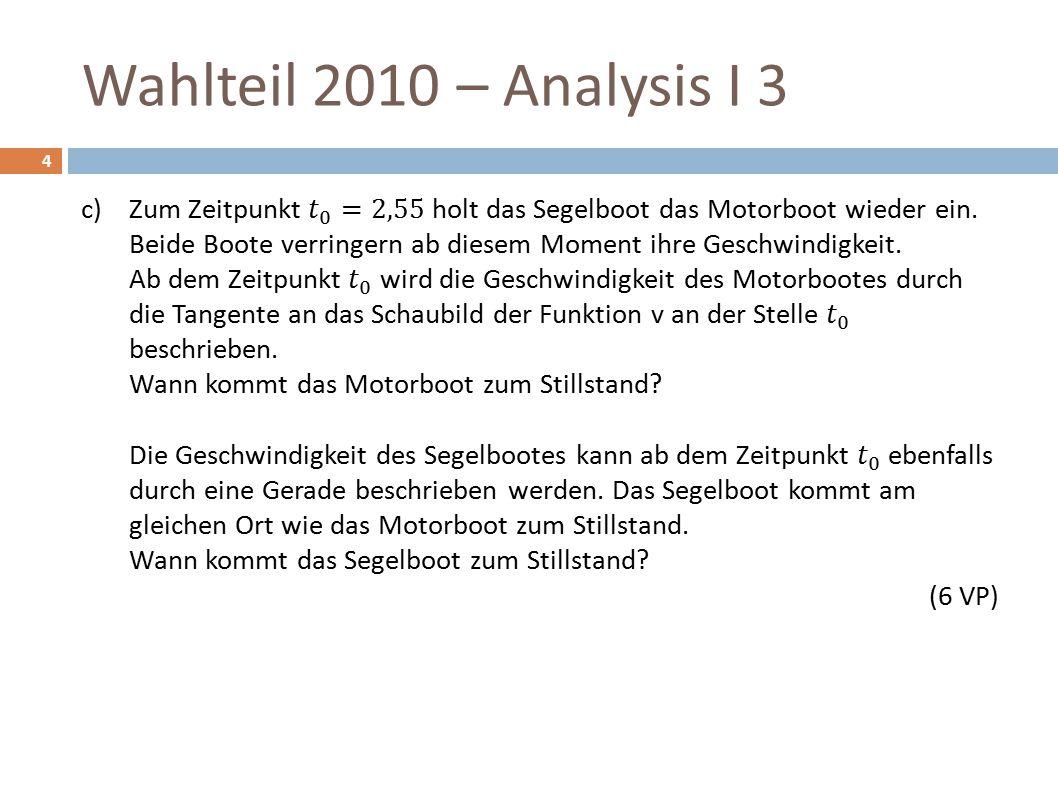 Wahlteil 2010 – Analysis I 3 15