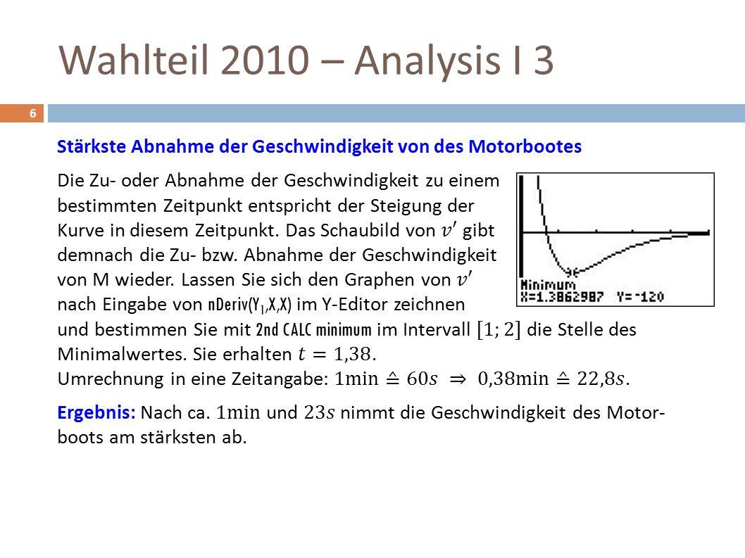 Wahlteil 2010 – Analysis I 3 6