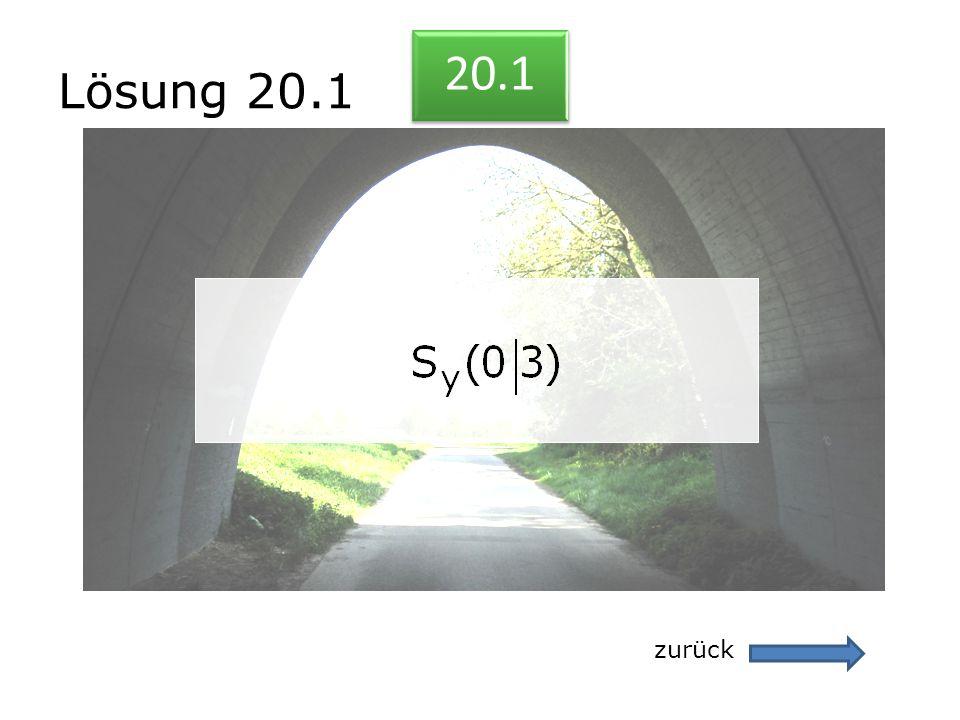 Lösung 20.1 zurück 20.1