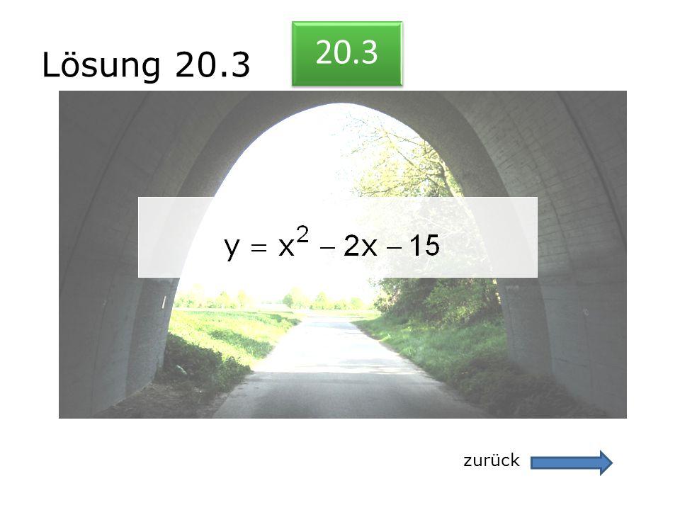 Lösung 20.3 zurück 20.3