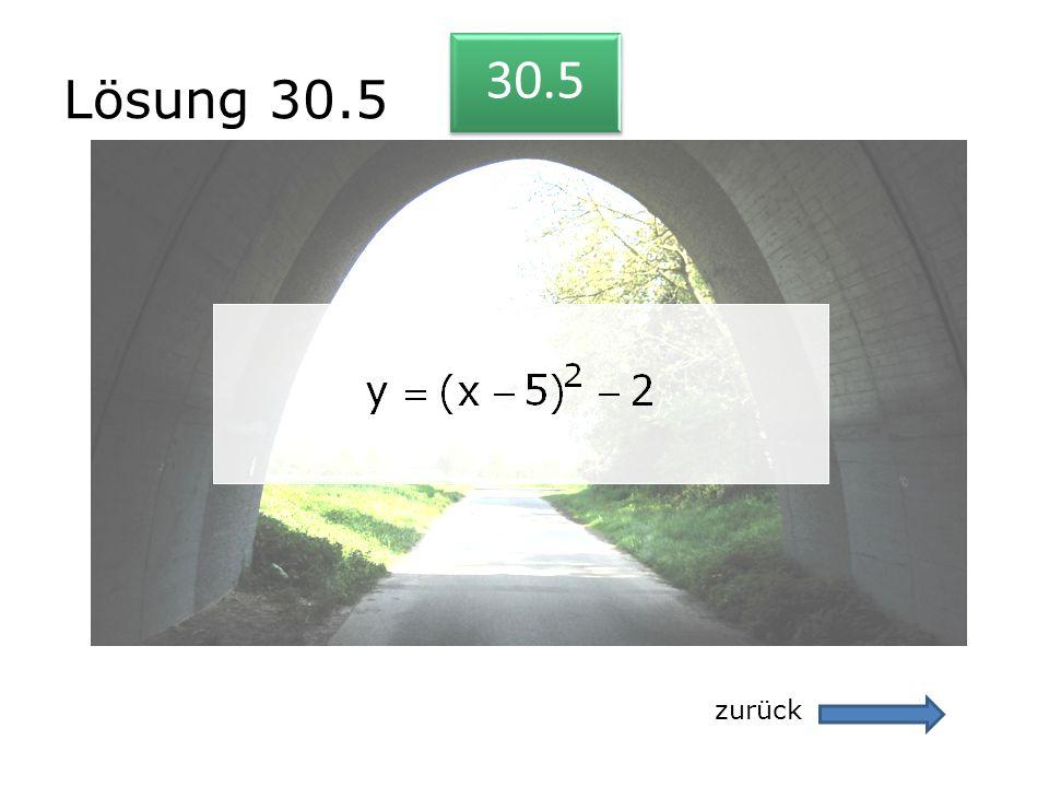 Lösung 30.5 zurück 30.5