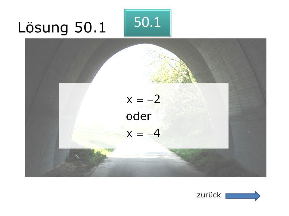 Lösung 50.1 zurück 50.1