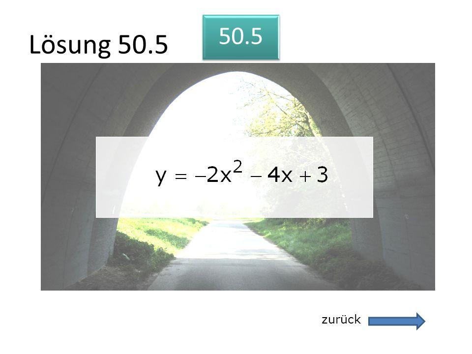 Lösung 50.5 zurück 50.5
