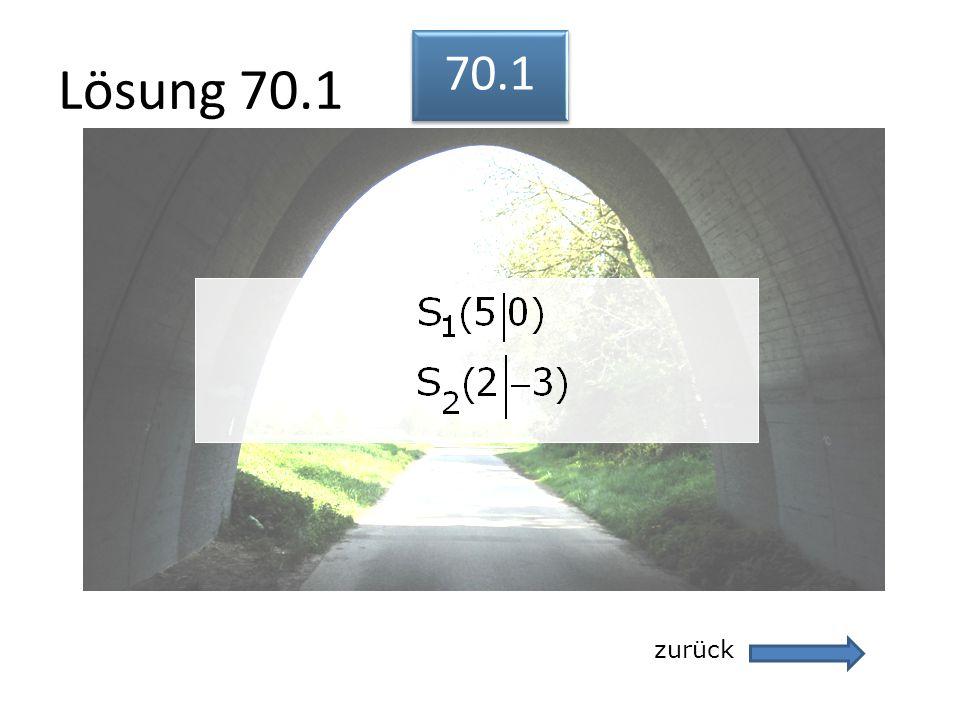 Lösung 70.1 zurück 70.1