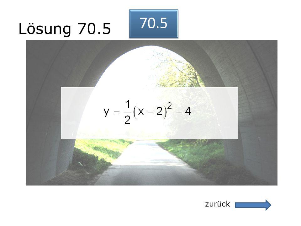 Lösung 70.5 zurück 70.5