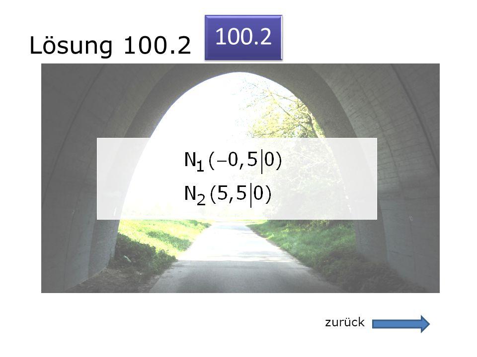 Lösung 100.2 zurück 100.2
