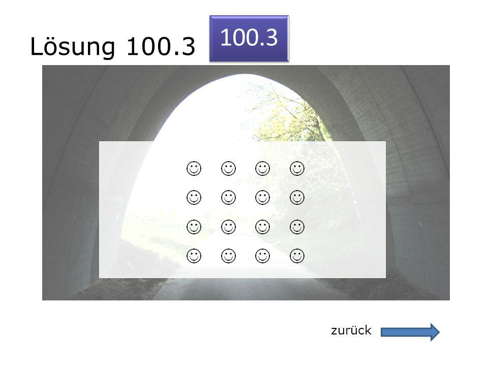 Lösung 100.3 zurück 100.3