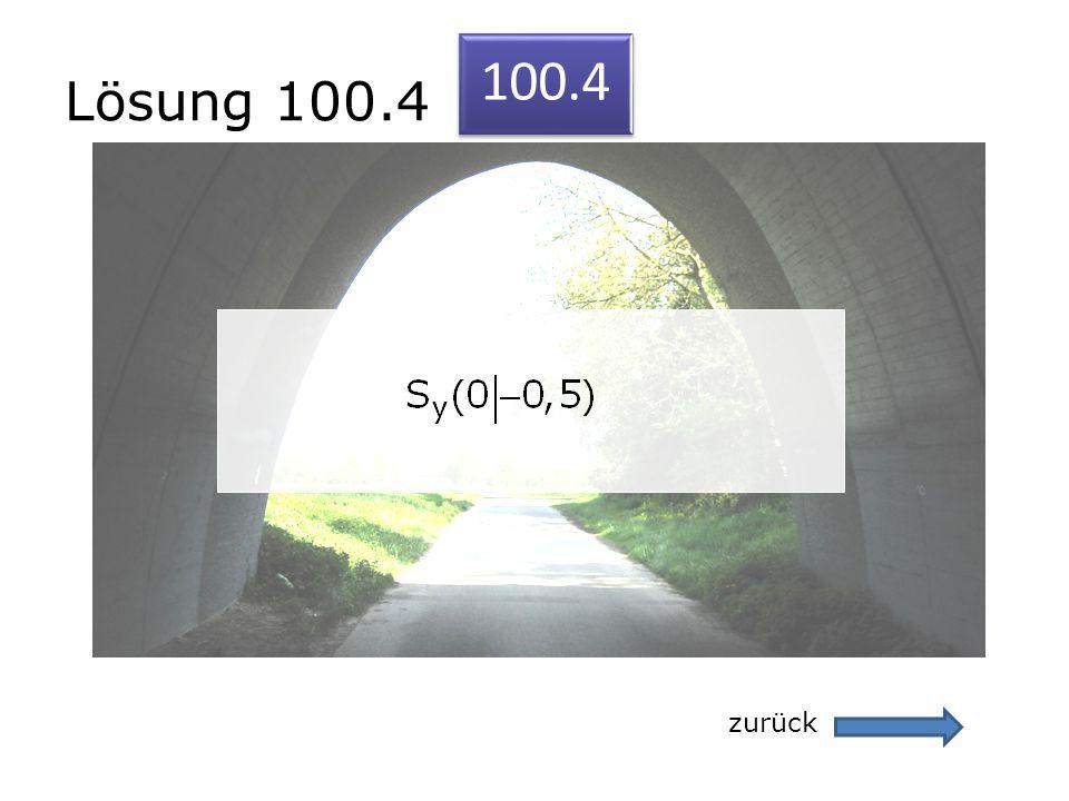 Lösung 100.4 zurück 100.4