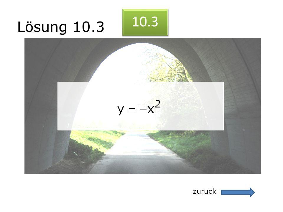 Lösung 10.3 zurück 10.3