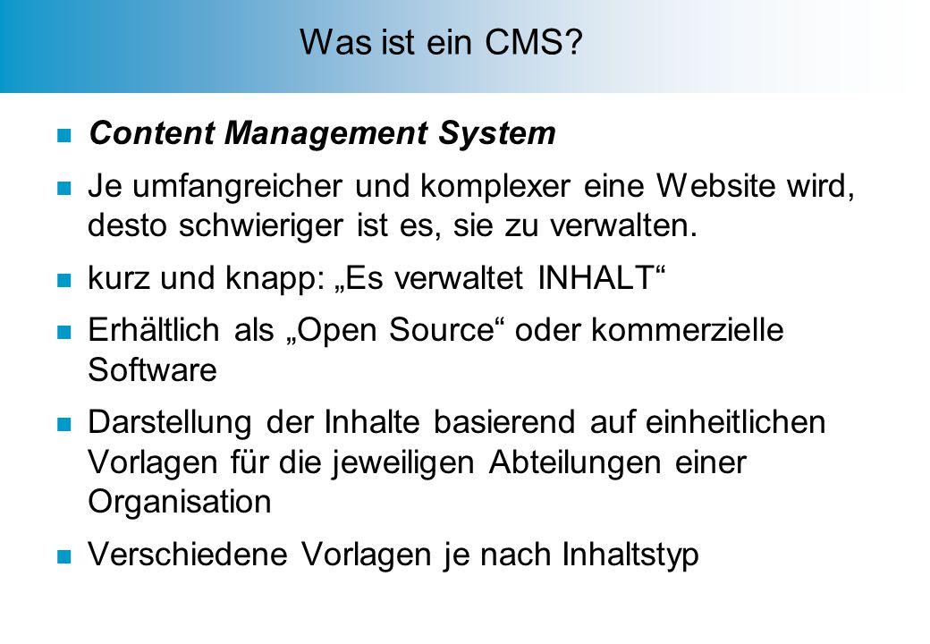 Was ist ein CMS.