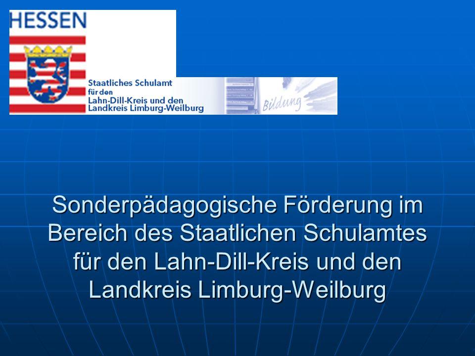 Landkreis Limburg-Weilburg 170000 Einwohner Lahn-Dill-Kreis 250000 Einwohner 8 SpHKl, 3 KKlfEH 21 SpHKl Zahlen, Zahlen, Zahlen
