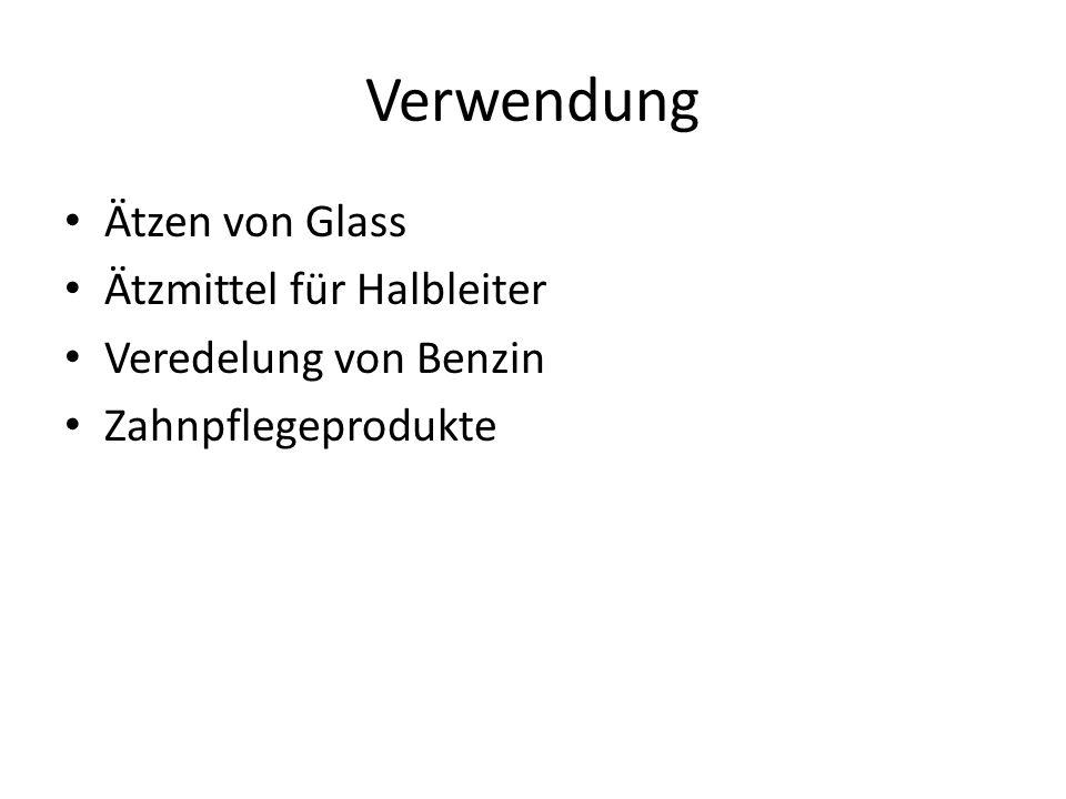 Verwendung Ätzen von Glass Ätzmittel für Halbleiter Veredelung von Benzin Zahnpflegeprodukte