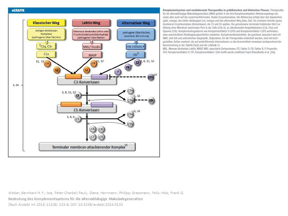 Weber, Bernhard H. F.; Issa, Peter Charbel; Pauly, Diana; Herrmann, Philipp; Grassmann, Felix; Holz, Frank G. Bedeutung des Komplementsystems für die