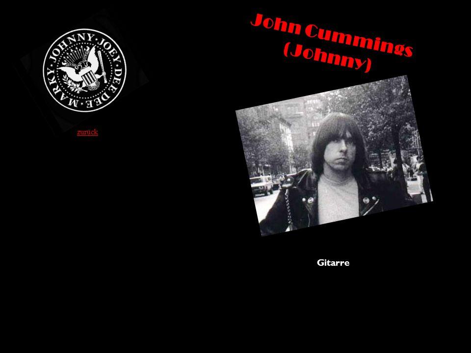 John Cummings (Johnny) Gitarre zurück