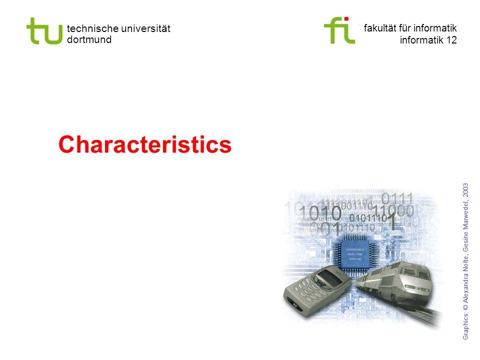 fakultät für informatik informatik 12 technische universität dortmund Characteristics Graphics: © Alexandra Nolte, Gesine Marwedel, 2003