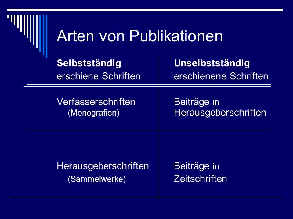 Schema 1: Verfasserschriften  Name, Vorname: Titel.
