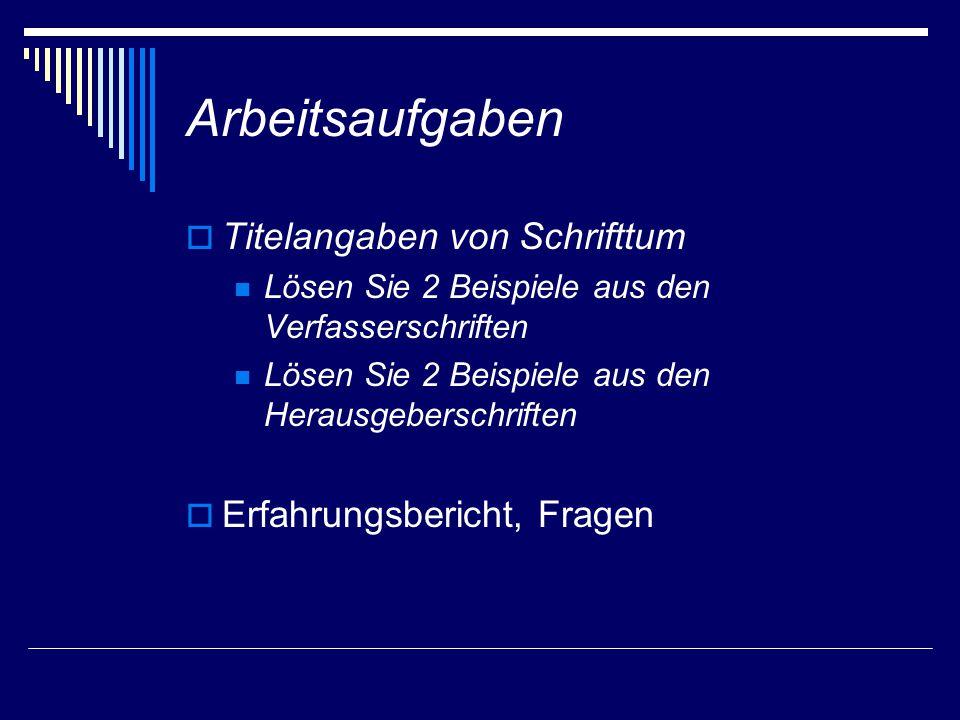 Schema 3: Beiträge in Herausgeberschriften 1 Name, Vorname: Titel des Beitrags.