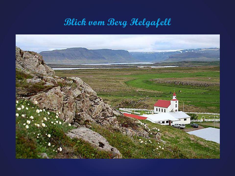 Blick vom Berg Helgafell
