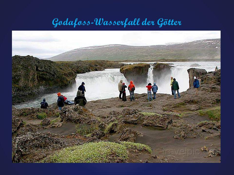 Godafoss-Wasserfall der Götter