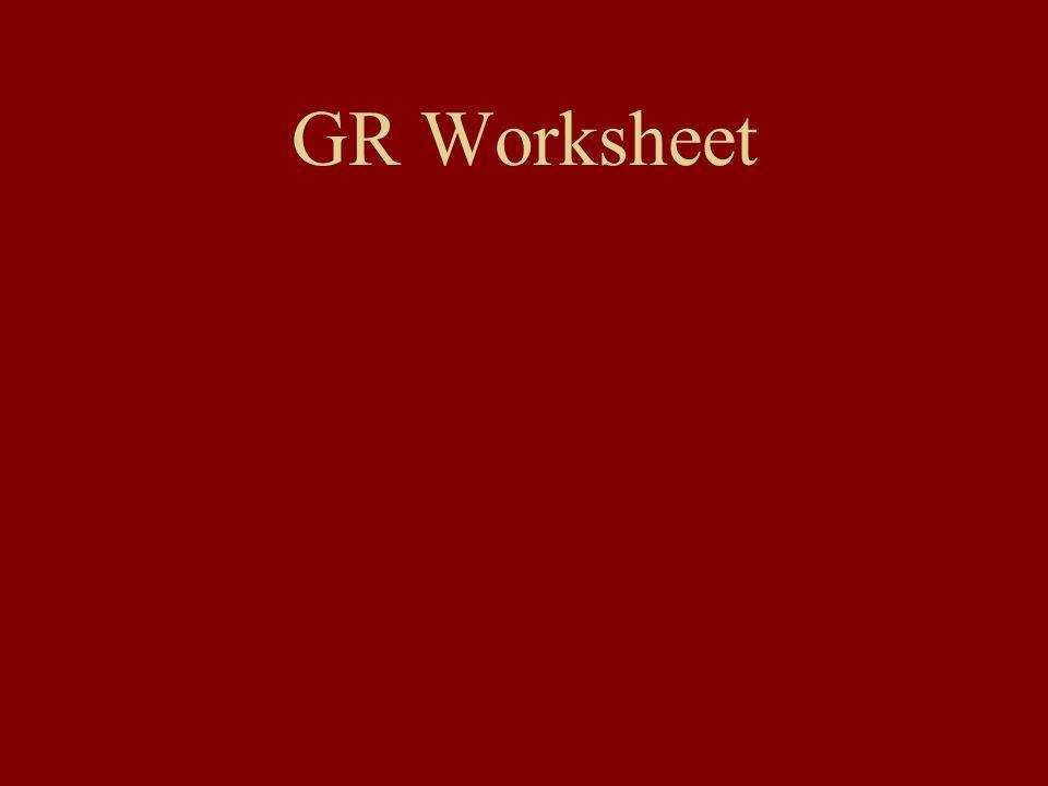 GR Worksheet