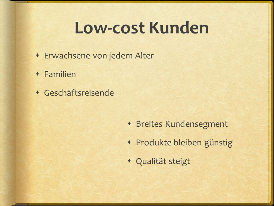 Low-cost Anbieter  Airlines
