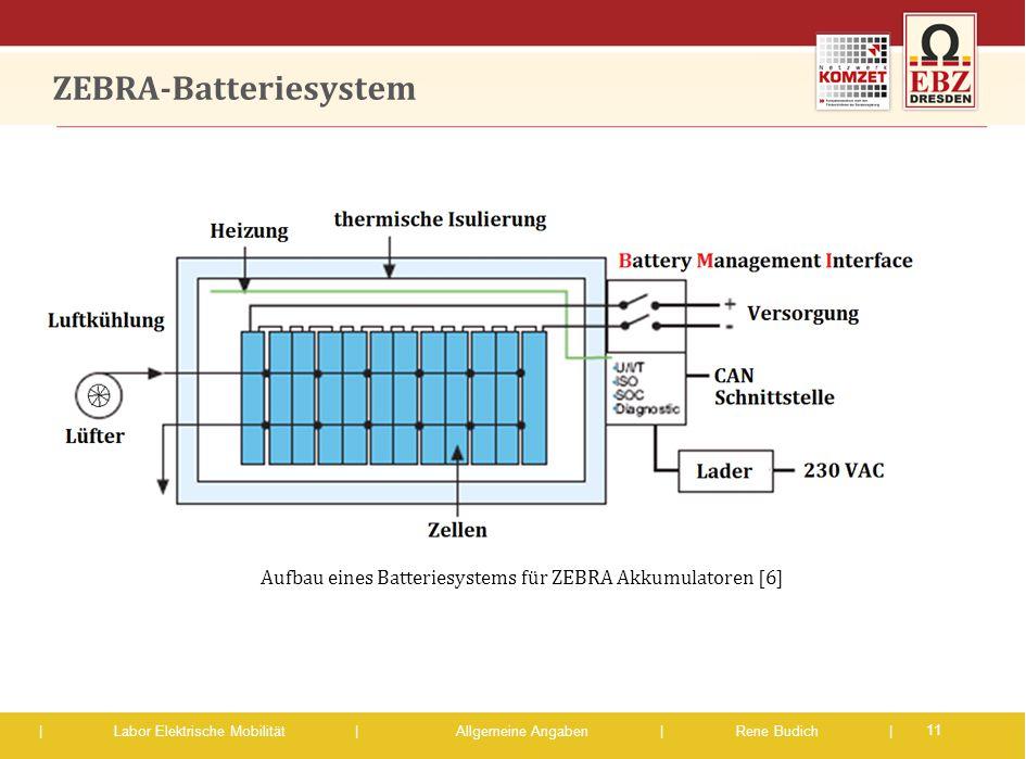 | Labor Elektrische Mobilität |Allgemeine Angaben | Rene Budich | ZEBRA-Batteriesystem 11 Aufbau eines Batteriesystems für ZEBRA Akkumulatoren [6]