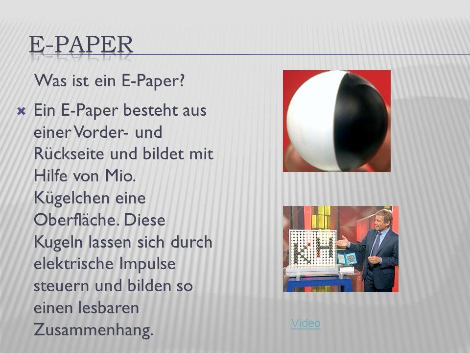 Was ist ein E-Paper.