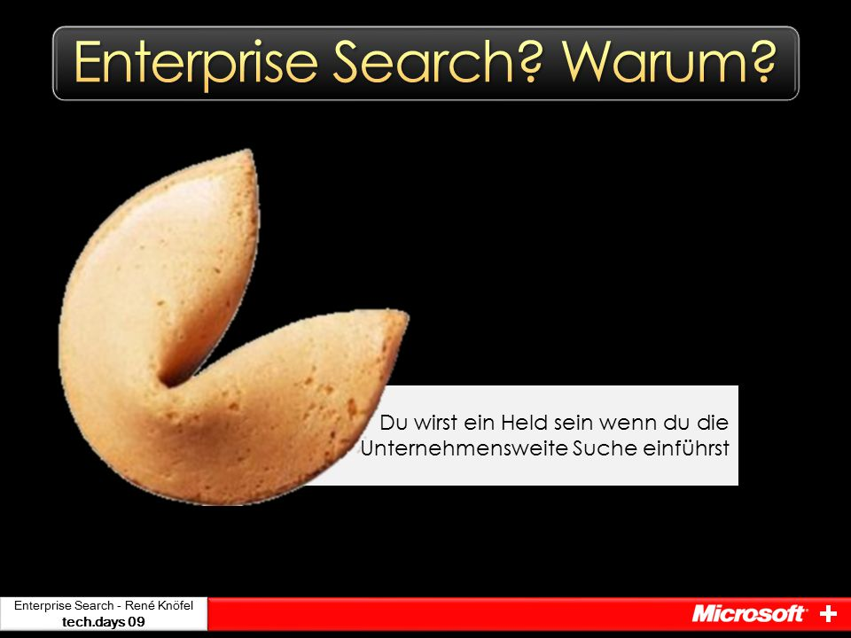 Enterprise Search - René Knöfel tech.days 09