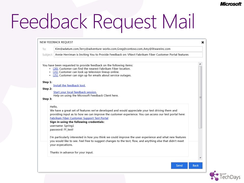 Feedback Request Mail