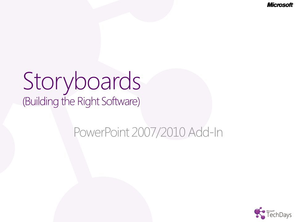 Storyboards (Building the Right Software) PowerPoint 2007/2010 Add-In