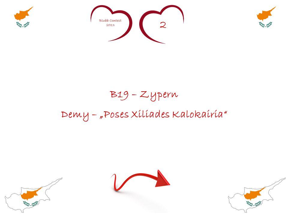 """2 B19 – Zypern Demy – """"Poses Xiliades Kalokairia"""