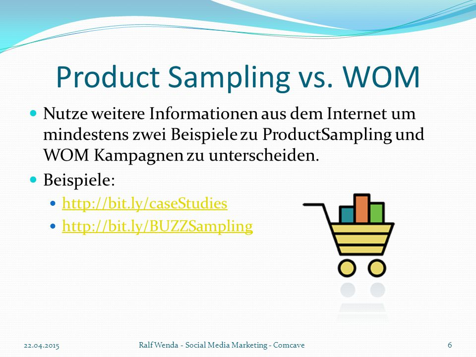 Product Sampling vs.