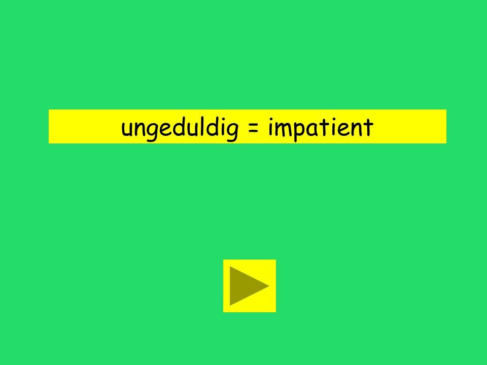 Du bist immer so ungeduldig! impatient unhappyold fashioned