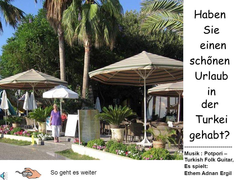 Haben Sie einen schőnen Urlaub in der Turkei gehabt.