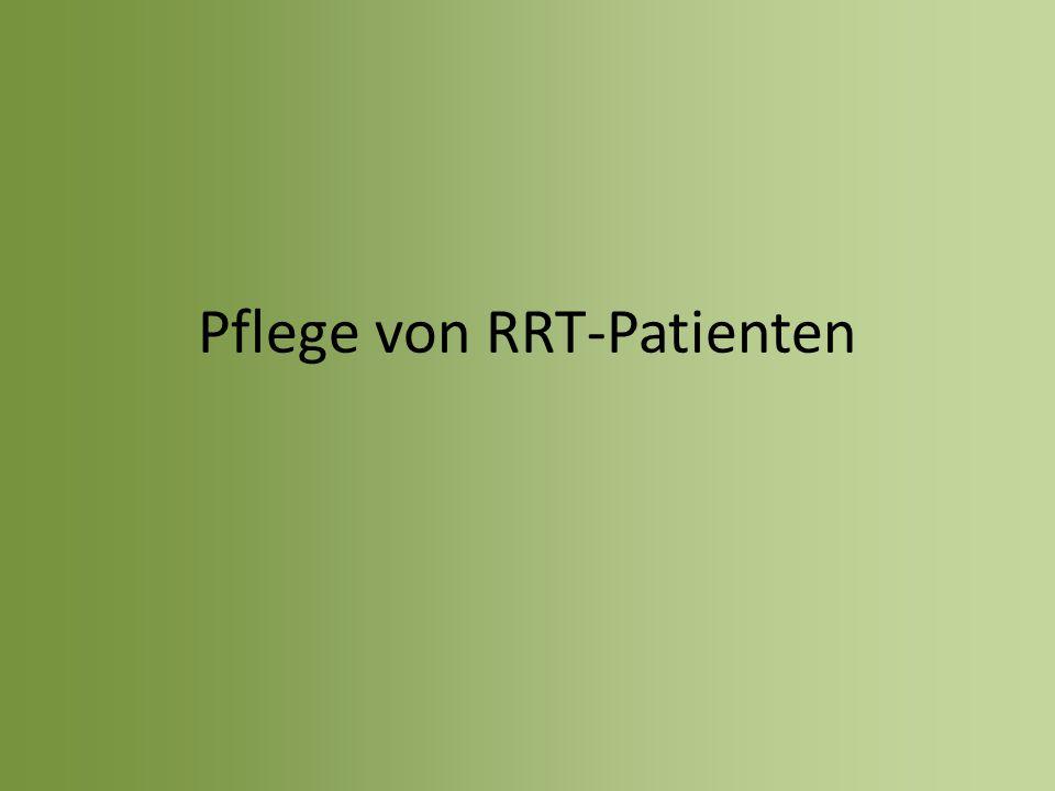 Pflege von RRT-Patienten