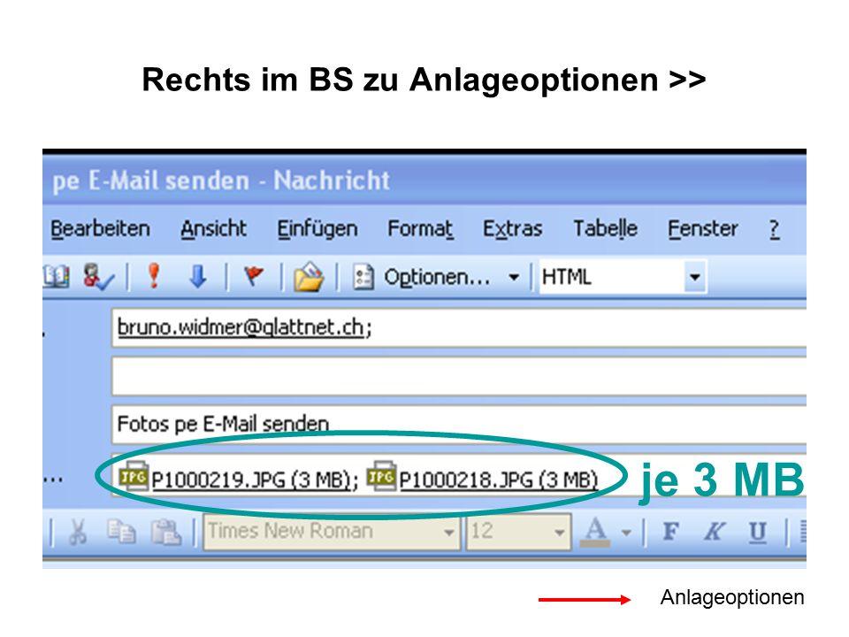 Rechts im BS zu Anlageoptionen >> je 3 MB Anlageoptionen