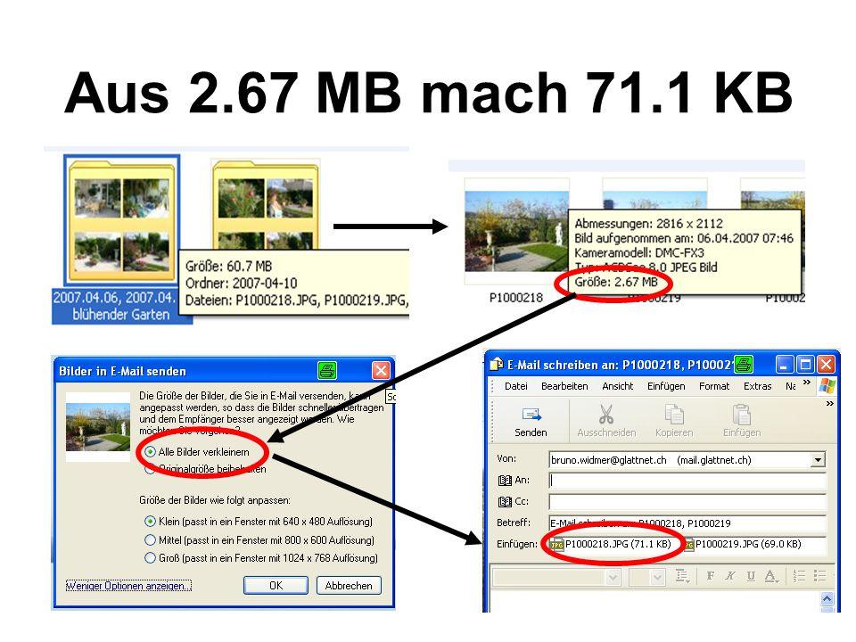 Aus 2.67 MB mach 71.1 KB