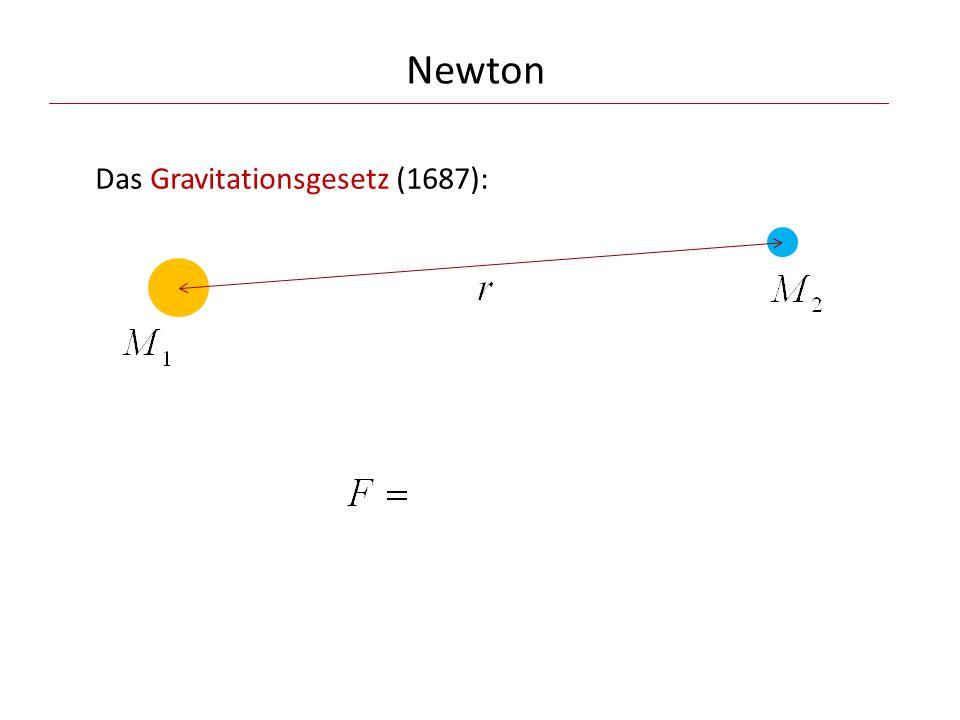 Newton Das dritte Keplersche Gesetz wird durch die Newtonsche Theorie vervollständigt: Kepler: Newton: für alle Planeten gleich wobei