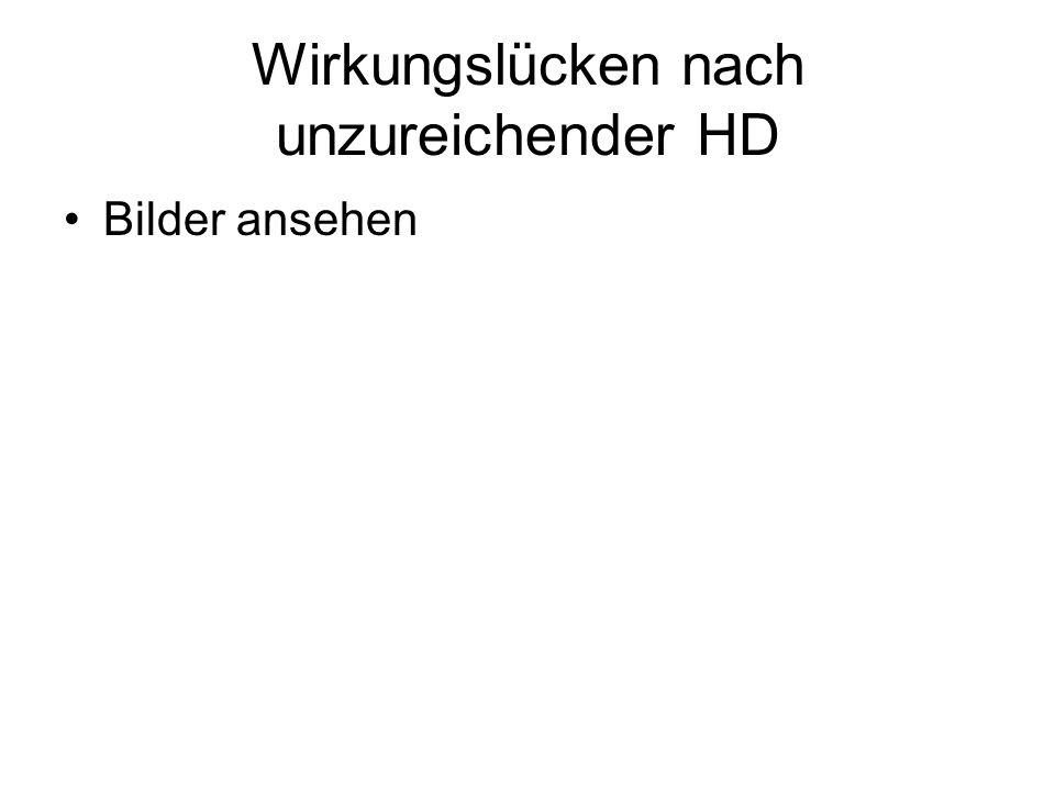 Wirkungslücken nach unzureichender HD Bilder ansehen