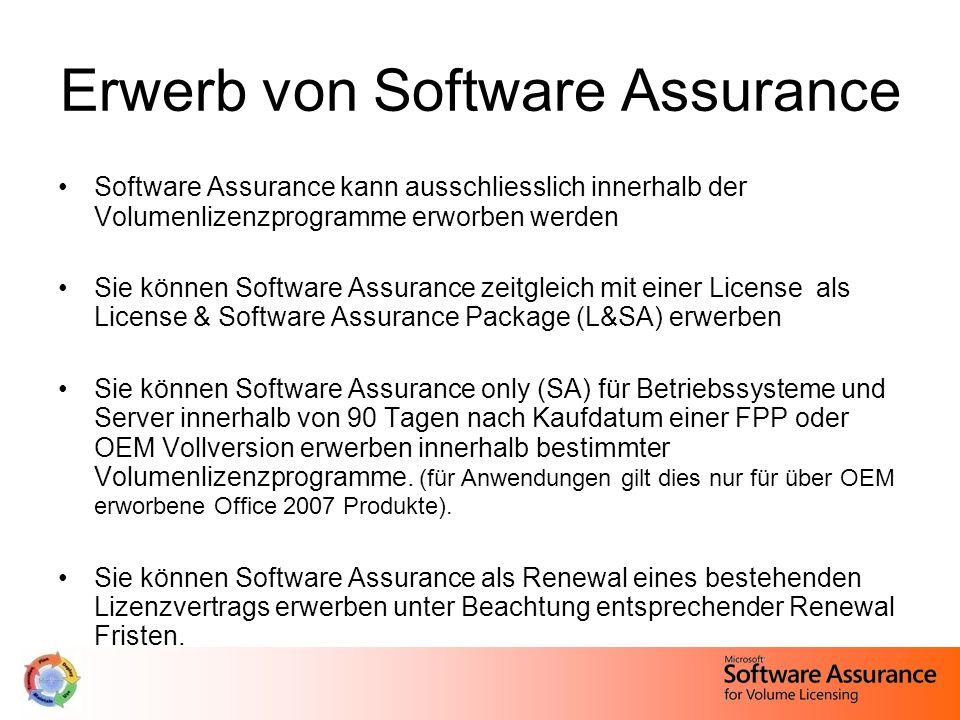 Windows Vista Ultimate - Berechtigung Kunden mit Software Assurance-Abdeckung im Betriebssystem-Pool haben das Recht, diesen Software Assurance Service in Anspruch zu nehmen: Kunden mit weniger als 600 lizenzierten Geräten mit laufender Windows-SA- Abdeckung haben die Wahl, Windows Vista Ultimate anstatt von Windows Vista Business auf bis zu fünf der lizenzierten Geräte einzusetzen.