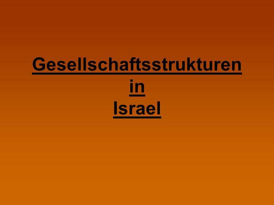 Gesellschaftsstrukturen in Israel