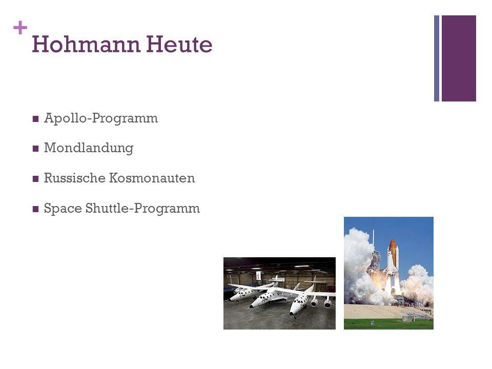 + Hohmann Heute Apollo-Programm Mondlandung Russische Kosmonauten Space Shuttle-Programm
