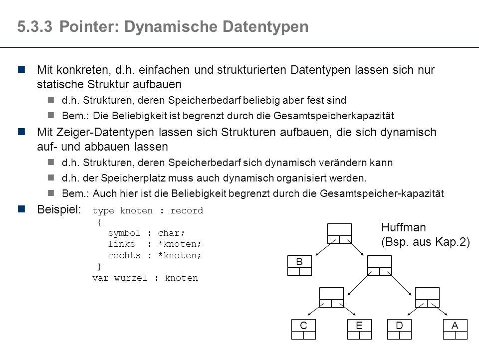 5.3.3Pointer: Dynamische Datentypen Mit konkreten, d.h.