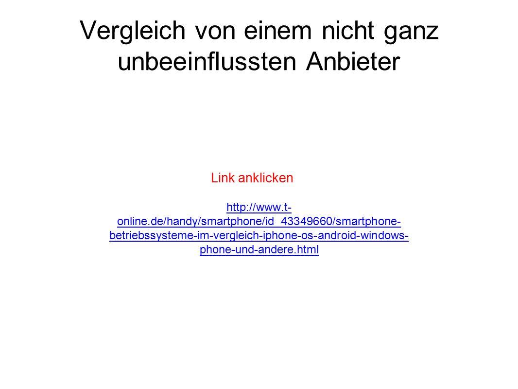 Vergleich von einem nicht ganz unbeeinflussten Anbieter http://www.t- online.de/handy/smartphone/id_43349660/smartphone- betriebssysteme-im-vergleich-