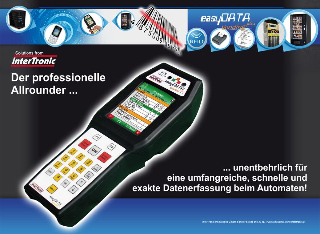 Das easyDATA Vending Plus ist ein Handheld, welches speziell für den Bereich Vending entwickelt wurde.