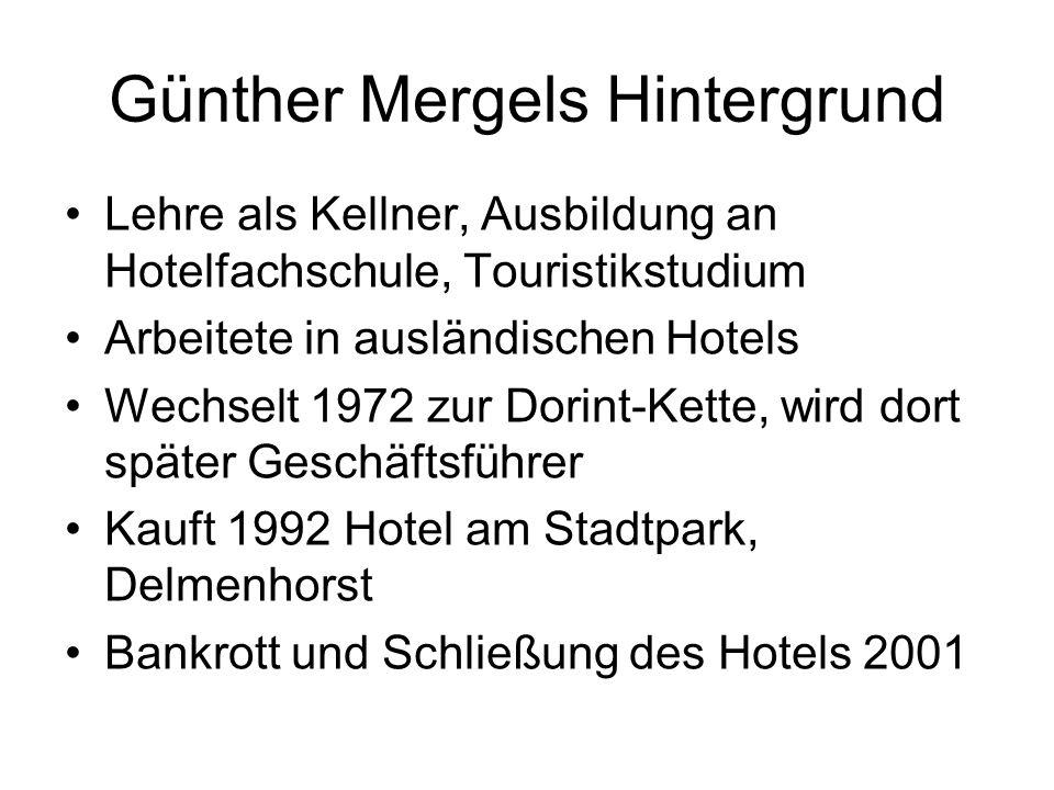 Lehre als Kellner, Ausbildung an Hotelfachschule, Touristikstudium Arbeitete in ausländischen Hotels Wechselt 1972 zur Dorint-Kette, wird dort später