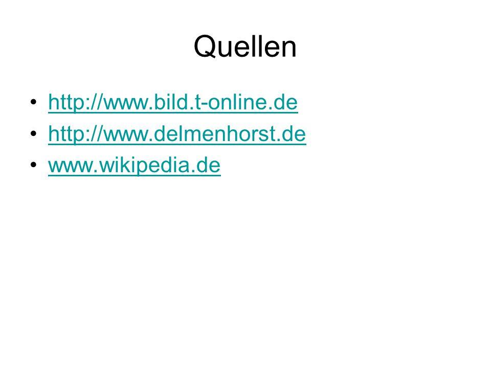 Quellen http://www.bild.t-online.de http://www.delmenhorst.de www.wikipedia.de
