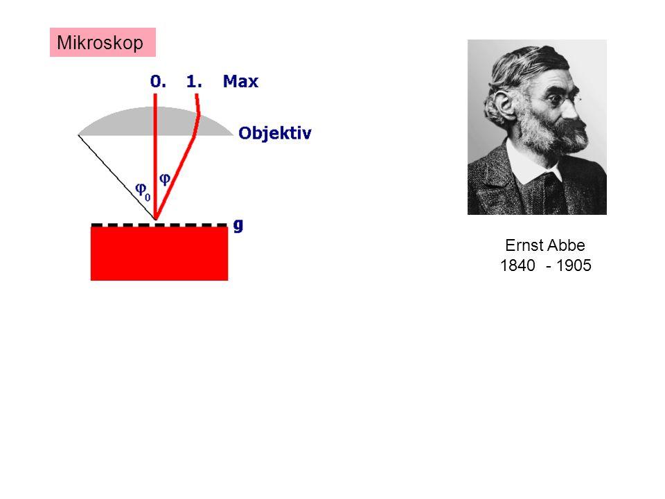 Ernst Abbe 1840 - 1905 Mikroskop